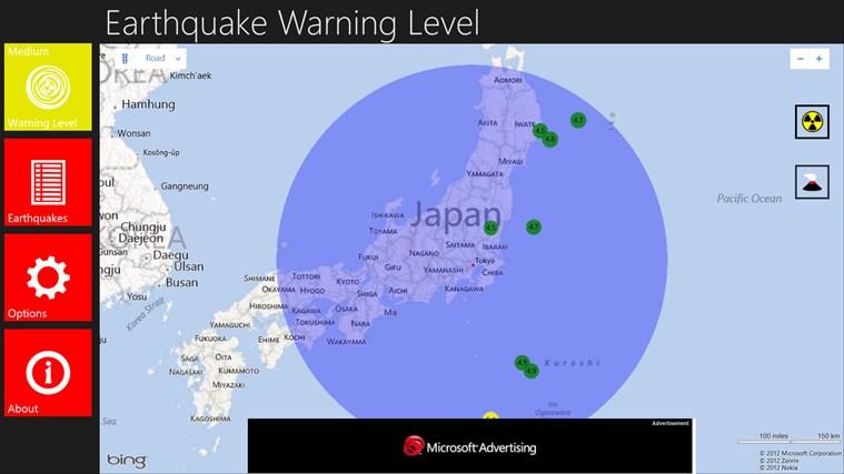 Earthquake Warning Level
