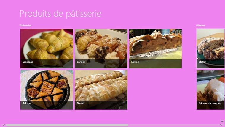 Produits de Pâtisserie marcus produits