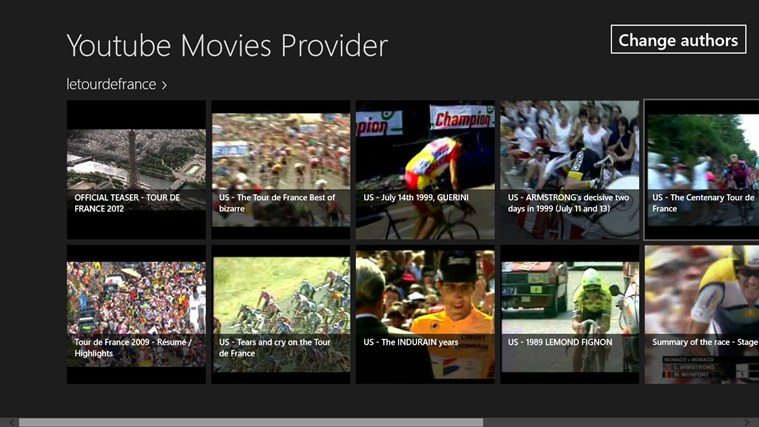 YouTube Movie Provider for Windows 8 pro