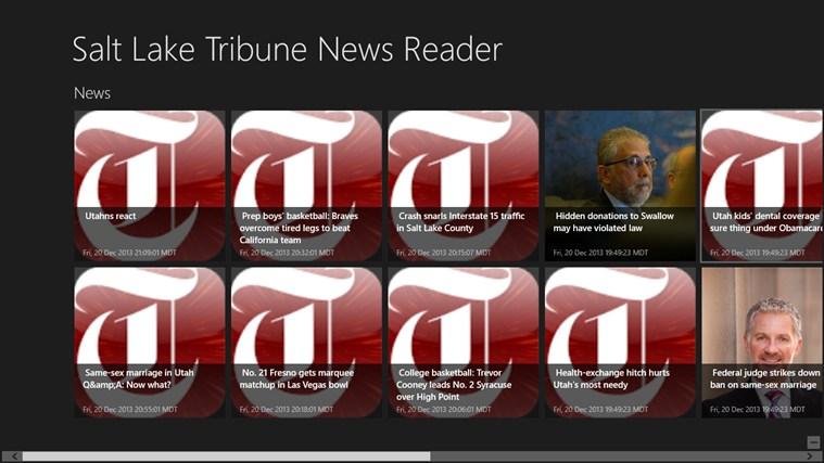 Salt Lake Tribune News Reader tribune world