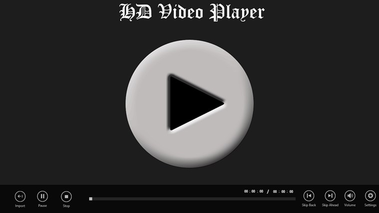 HD Video Player player video