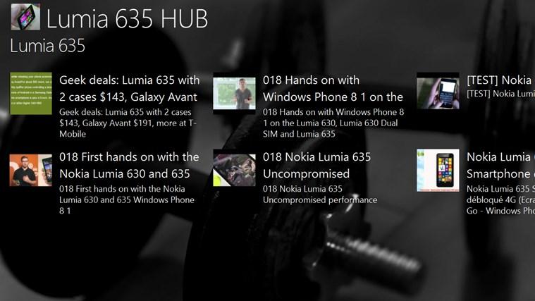 Lumia 635 HUB lumia
