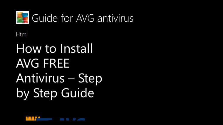 Guide for AVG antivirus