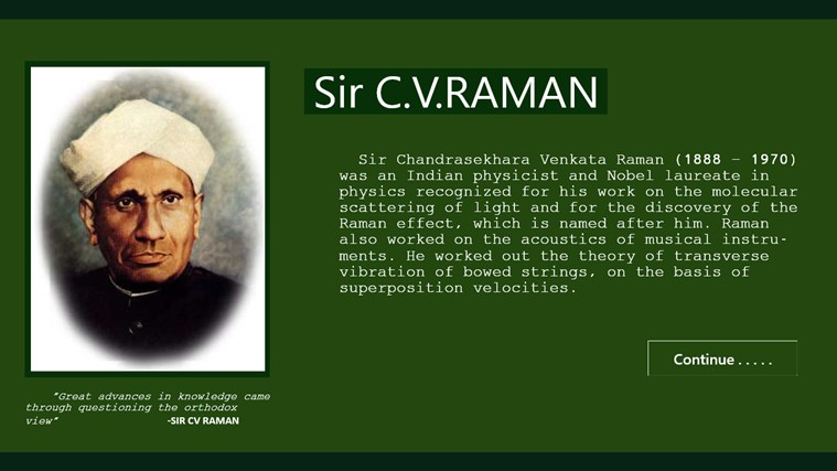 sir c v raman essay Recipient of the india salutes sir c v raman on his birthday council european studies pre dissertation and related post of sir cv raman essay about myself.