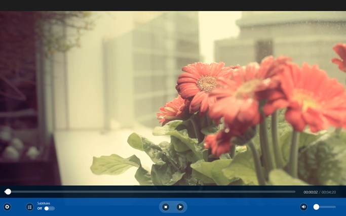 Win 8 Video Player