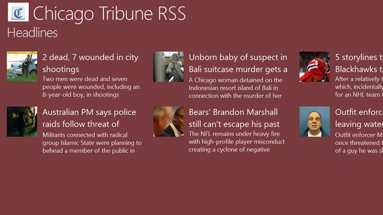 Chicago Tribune RSS tribune world