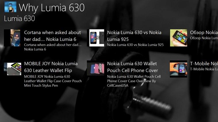 Why Lumia 630? lumia