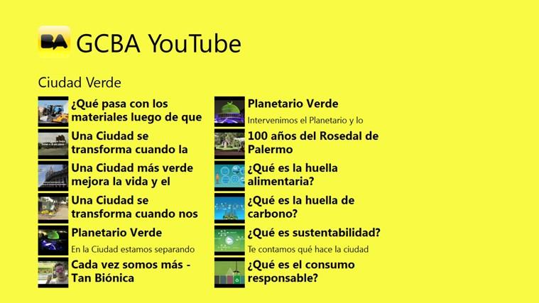 GCBA YouTube