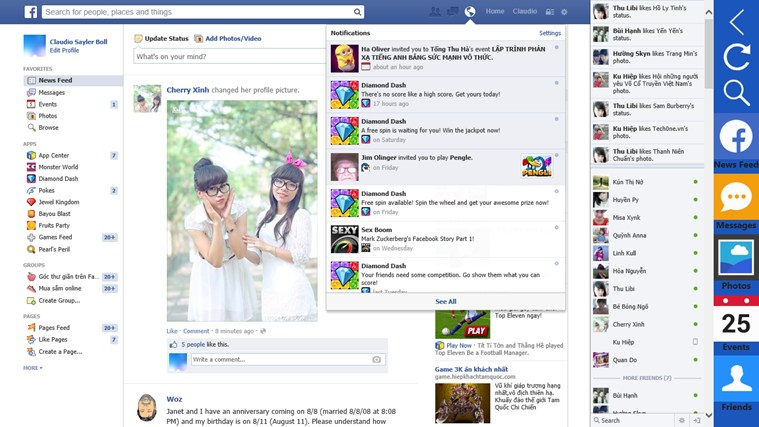Facebook Desktop+ facebook