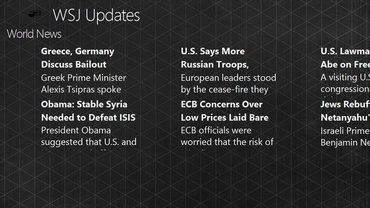 WSJ Updates