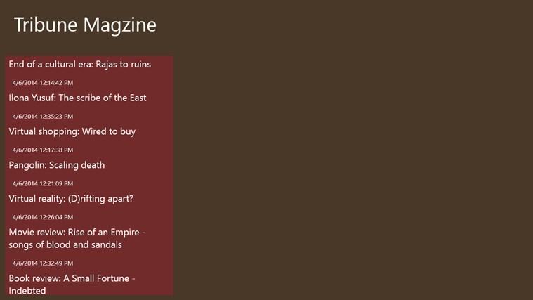 Tribune Magzine tribune world