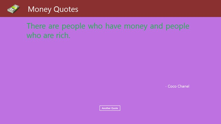 Money Quotes teller