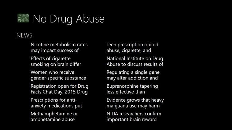 No Drug Abuse