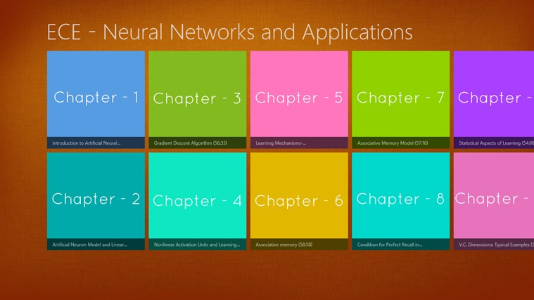 ECE - Neural Networks and Applications - Video applications