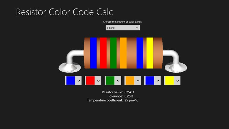 Resistor Color Code Calc mechanical color code