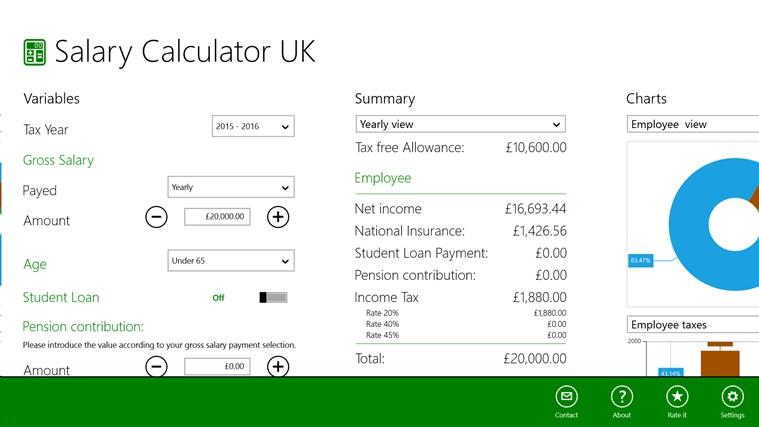 Salary Calculator for UK