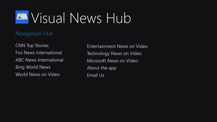 Visual News Hub dagblad news