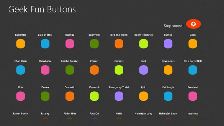 Geek Fun Buttons