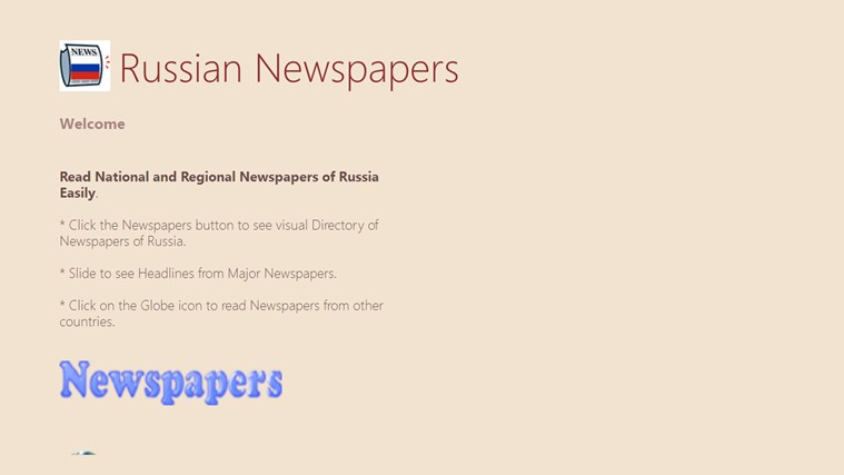 Russian Newspapers newspapers