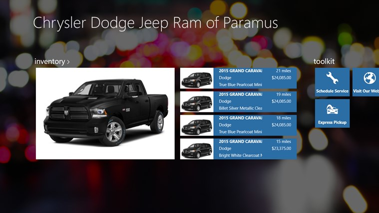 Chrysler Dodge Jeep Ram of Paramus DealerApp
