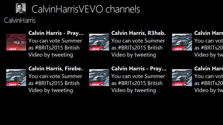 CalvinHarrisVEVO channels channels
