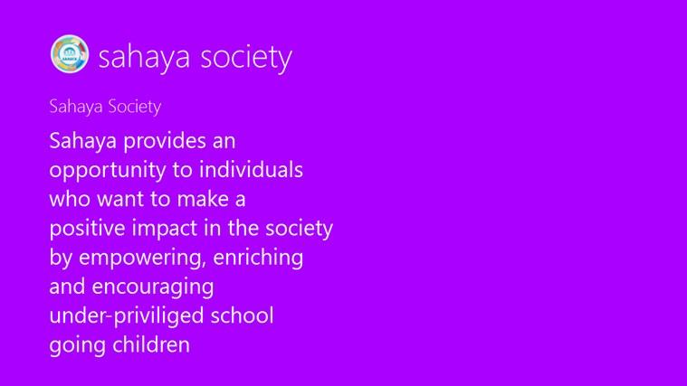 sahaya society