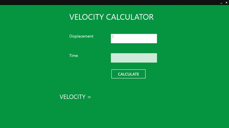 VCC For Rate of Change App