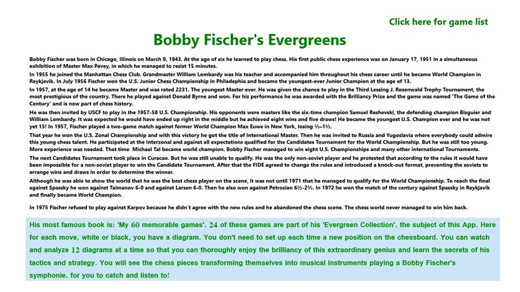 Bobby Fischer's Evergreens 2
