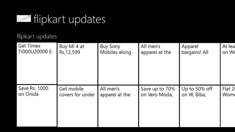 flipkart updates