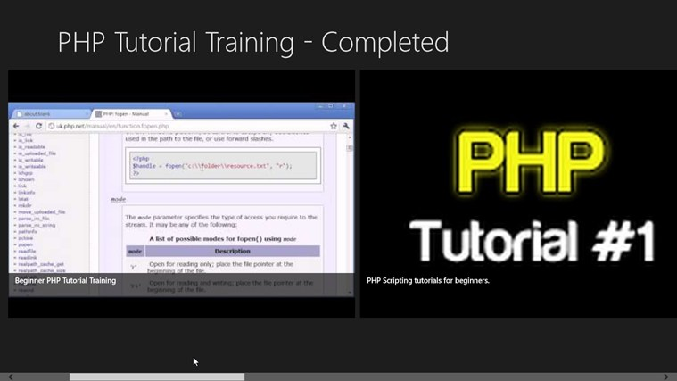 PHP Tutorial Training - Completed money tutorial