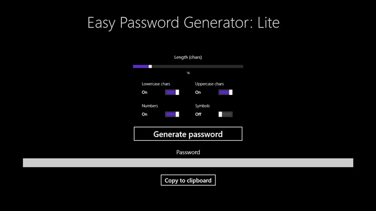 Easy Password Generator: Lite