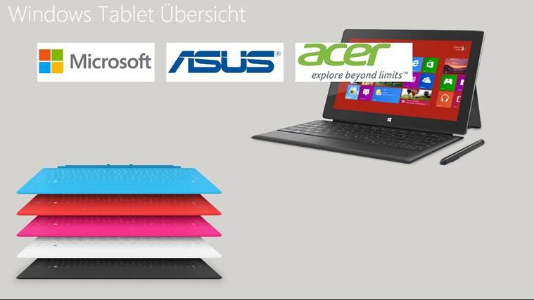 Windows Tablet Übersicht