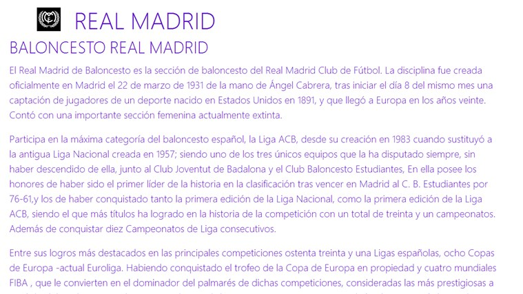 BALONCESTO REAL MADRID FanHub