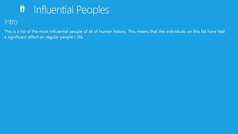 Influential Peoples