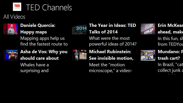 Ted Talks Channels