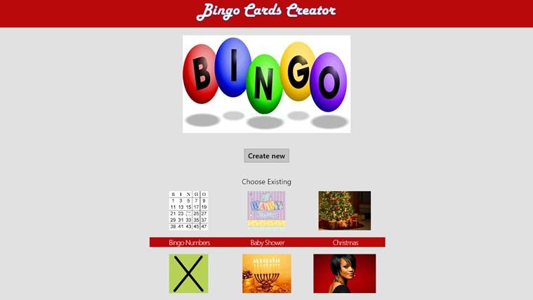 Bingo Cards Creator bingo calling card