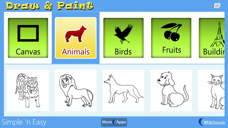 Draw & Paint for kids by WAGmob image trace paint