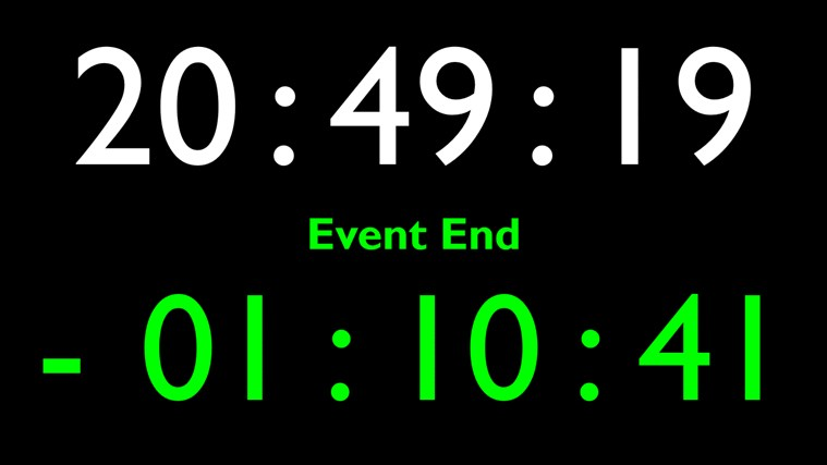 Event Clock dvd start