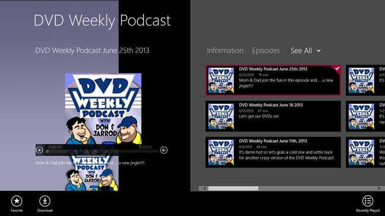 DVD Weekly Podcast dvd