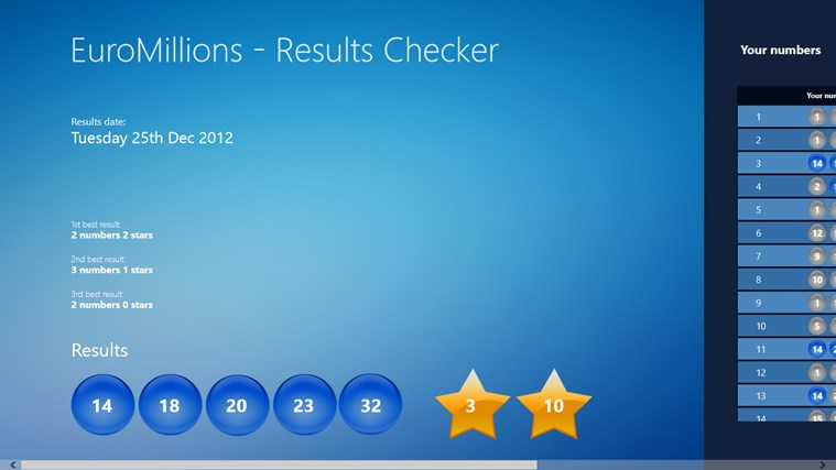 Euro Million Results Checker