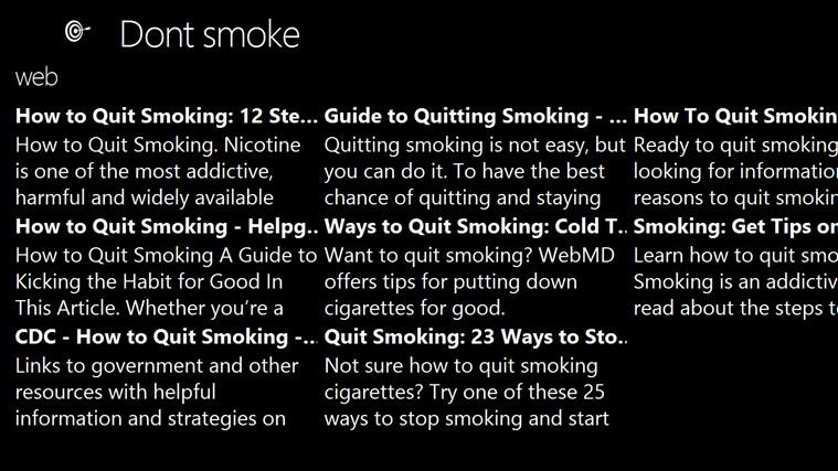 Dont smoke