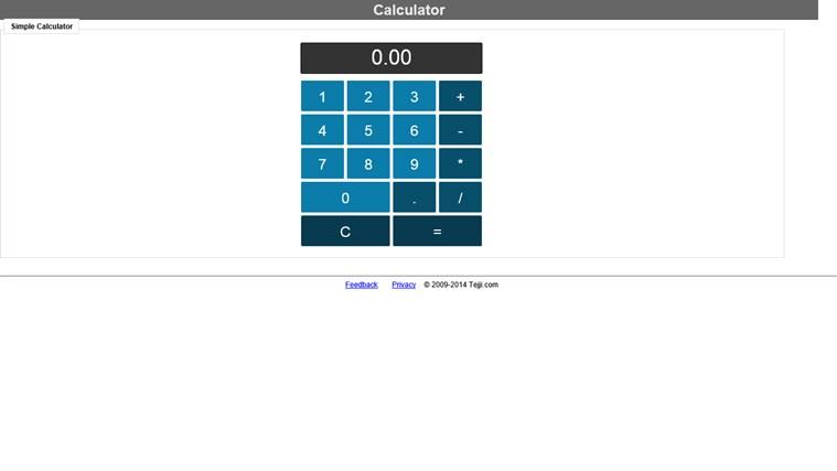 Basic Calculator simple
