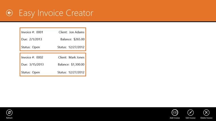 Easy Invoice Creator invoice realty