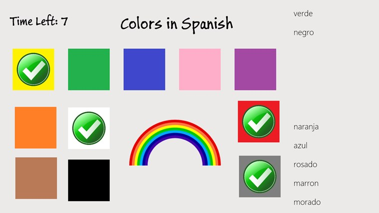 Colores colors in spanish windows app triadio for Colors in spanish