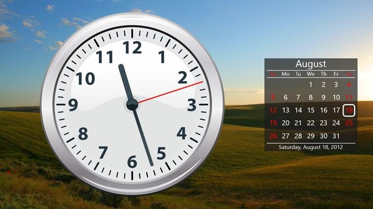 Оно также отображает время и дату на живой плитке.
