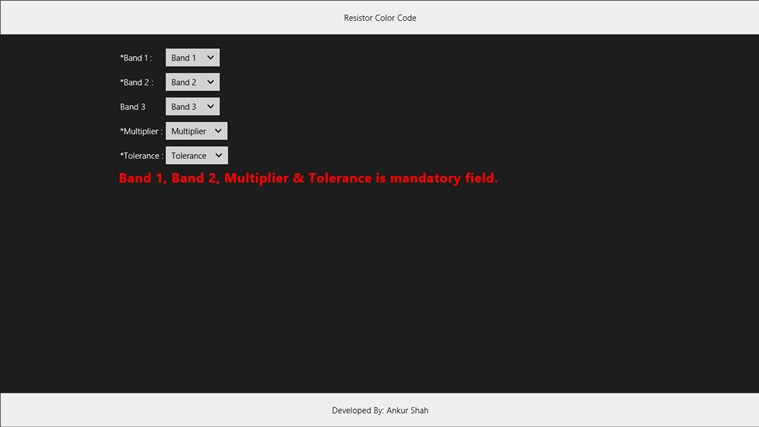 Resistor Color Code mechanical color code