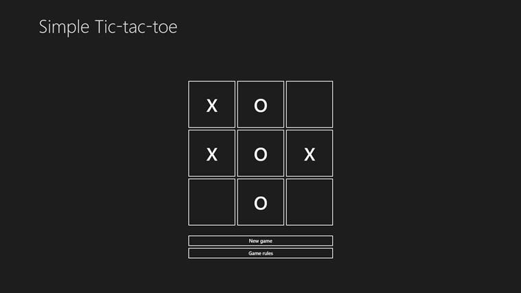 Simple Tic-tac-toe simple