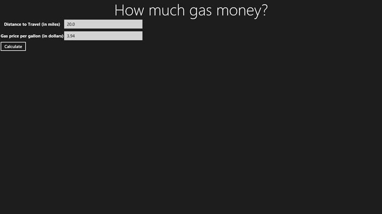 How much gas money money tutorial