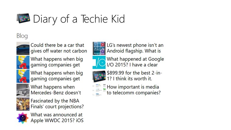 Diary of a Techie Kid