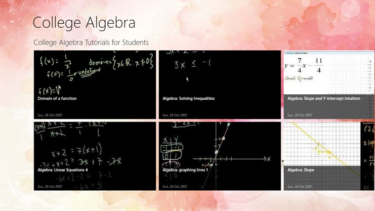 what i learned in college algebra Clep college algebra clep college you have just learned visually and enhance your learning system and teach you the college algebra chapter by.